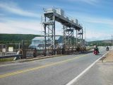 THESE ARE THE GATES THAT TRAP THE WATER AT THE TIDAL GENERATING PLANT