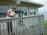 SARA LOOKED FOR SHORE BIRDS FEEDING AT LOW TIDE OFTEN