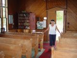 SARA LOVES THE INSIDE OF A CHURCH ANY CHURCH