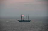 Sailing in the Sunset Havana, Cuba - May 2012