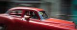 Red Taxi Havana, Cuba - May 2012