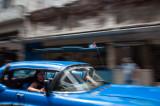 Blue Taxi Havana, Cuba - May 2012