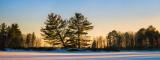 Sunset colors, Chippewa Flowage panorama