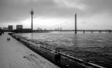 Rheinturm and Rheinkniebrücke, Düsseldorf