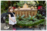 Norah with the Botanical Gardens model