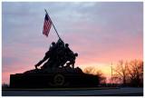 Iwo Jima Memorial at sunrise