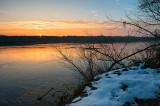 First Snow At Vistula River