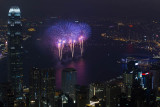 Firework over Victoria Harbour
