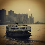 star ferry and the setting sun...