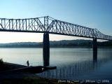 Ohio River at Milton, Kentucky (USA).