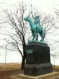 Estatua en el lago Michigan