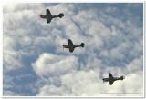 3 Curtis P40 Kittyhawks