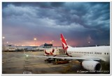 Approaching Storm at Melbourne Airport