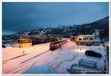 Narvik Railway Station at Night