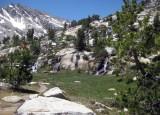 Four Streams Cascading down a Boulder Strewn Hillside