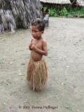 Small Yagua Boy with Marmoset on his head