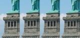 A gauche l'image non traitée. Dans la deuxième image le script a été appliqué légèrement pour faire apparaitre plus de matière dans la pierre et le métal de la statue.  Dans les images suivantes l'application du script a été de plus en plus intense pour arriver dans la 4e image à un effet extrême.  Pour télécharger ce script:  http://b-rome.com