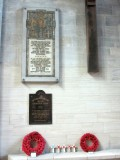 inside, memorials to France's WWI dead and the British troops who fought here in 1944