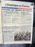 French-language information dropped by American planes to encourage people in the occupied towns