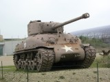 a Sherman tank at the museum site