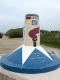 'kilometer zero' at the Utah Beach landing site: start of the 1944 Liberty Way