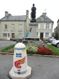 today the town square remembers the time with many markers