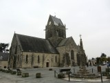 nearby Ste-Mère-Église was also a target for paratroopers...