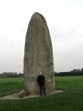 ...such as this 9.5m megalith outside of town! (it's behind Tom)