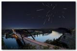 Pennybacker Bridge, Austin Texas, Night of the Meteors (Draconids)