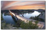Pennybacker Bridge Sunset near Austin Texas