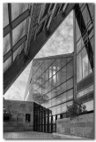 Austin City Hall Architecture 1 black and white