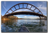 Kayaking under Pennybacker Bridge