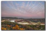 November Sunset over 360 Bridge Austin Texas