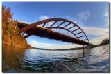 Kayaking under Pennybacker Bridge 2