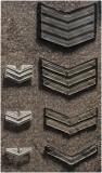 Rijkspolitie rang onderscheidings tekens uit de jaren 50 en 60