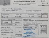 bromfietsverzekeringsbewijs uit 1967
