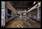 abandoned military building