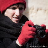 well equipped photographer...it's cold!