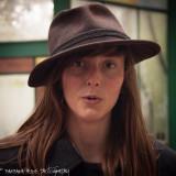 Alice wearing a hat