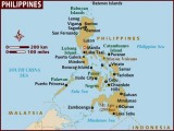 Map of the Philippines with the star indicating Manila.