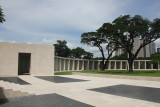 Closer view of an entrance to one of the hemicycles at the memorial plaza.