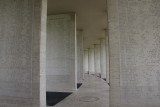 Inscribed on the columns are tablets of the names of the 36,285 missing.
