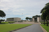 Ahead, is the memorial plaza, which contains two large hemicycles.