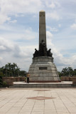 View of the Rizal Monument. Dr. José Rizal became a martyr and a national hero of the country.