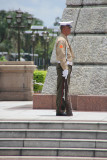 A soldier guarding the Rizal Monument.
