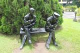 A life-like sculpture at Fort Santiago.