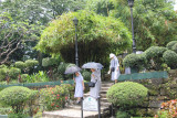 Nuns at Fort Santiago.  It was drizzling rain that day.