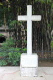 Memorial cross to Filipinos and Americans who died in the dungeon as victims of the Japanese during WWII.