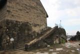 Side view with steps of la Baluarte de Santiago.