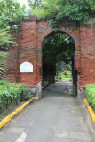 Brick ruins at Fort Santiago, which are part of barracks for Spanish soldiers that were built in 1593.